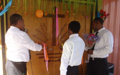 Church dedication in Papua New Guinea